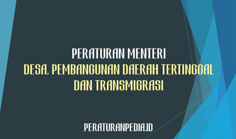 Peraturan Menteri Desa, Pembangunan Daerah Tertinggal, dan Transmigrasi Nomor 4 Tahun 2021