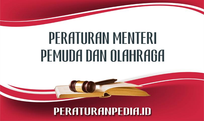Peraturan Menteri Pemuda dan Olahraga Nomor 38 Tahun 2016